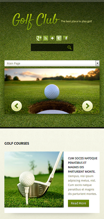 Joomla Theme/Template 52103 Main Page Screenshot