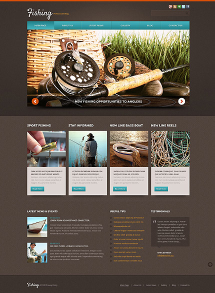 Joomla Theme/Template 52104 Main Page Screenshot