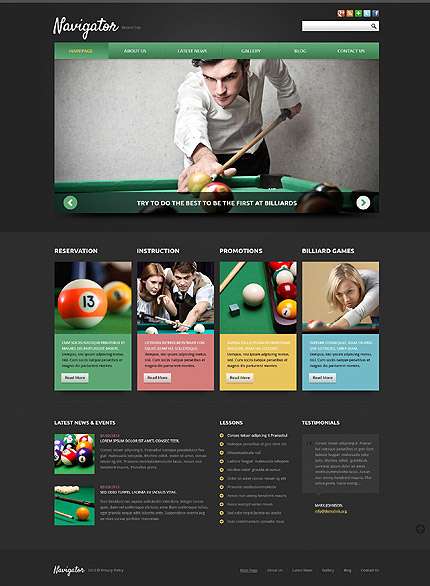 Joomla Theme/Template 52105 Main Page Screenshot