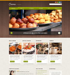 Cafe & Restaurant Joomla  Template 52106