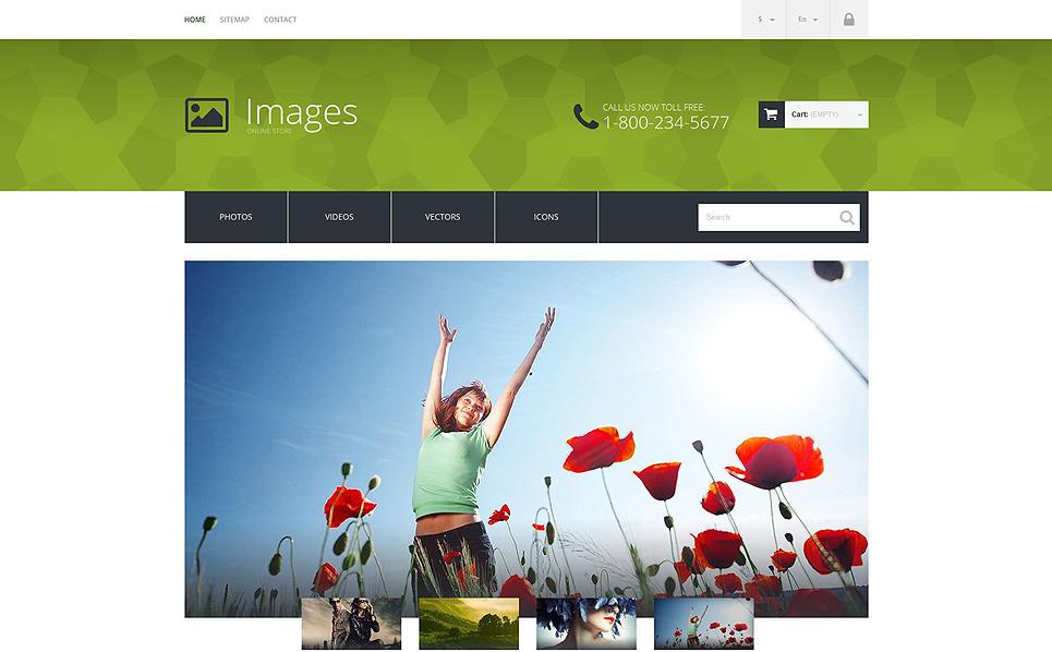 Reszponzív Stock fényképek PrestaShop sablon New Screenshots BIG