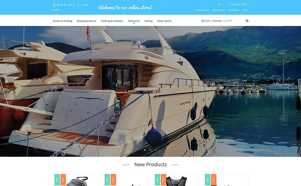 Template Magento Responsive #52108 per Un Sito di Yachting New Screenshots BIG