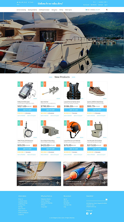 Magento Theme/Template 52108 Main Page Screenshot