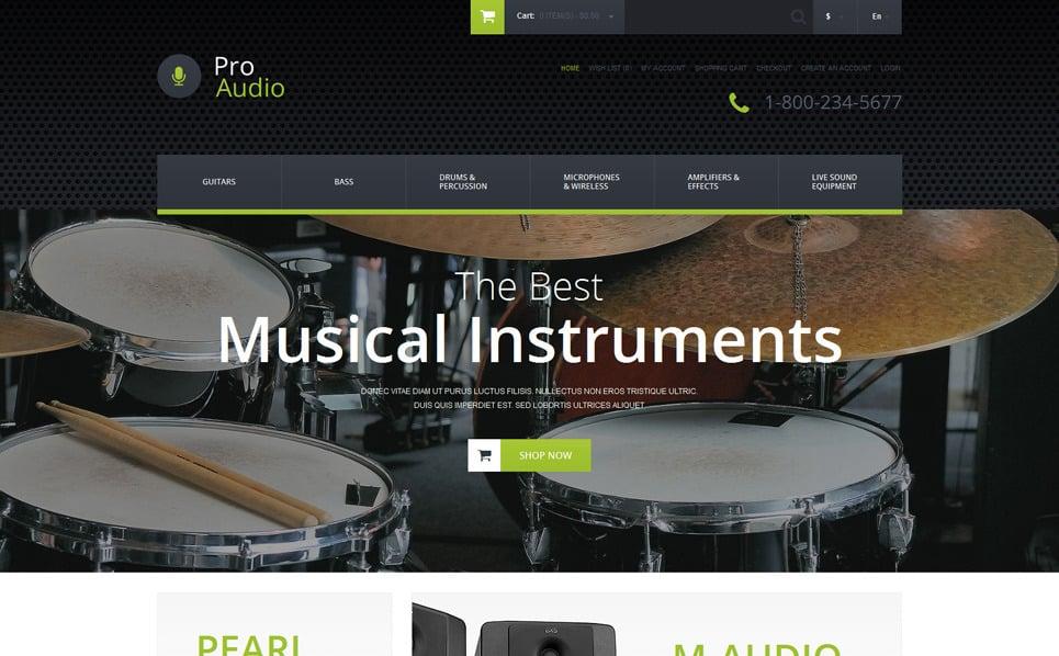 Responsywny szablon OpenCart #52109 na temat: sklep muzyczny New Screenshots BIG