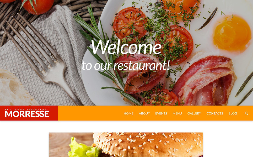 Адаптивний Шаблон сайту на тему фастфуд New Screenshots BIG