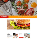 Cafe & Restaurant Website  Template 52116