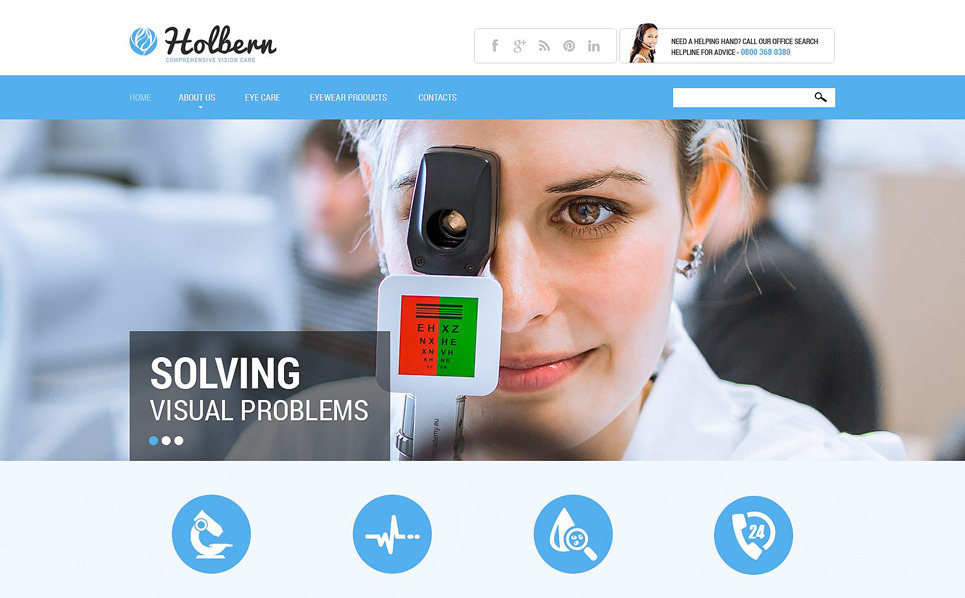 Responsive Website template over Optometrist New Screenshots BIG