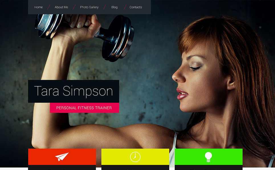 Responsive Website template over Bodybuilding  New Screenshots BIG
