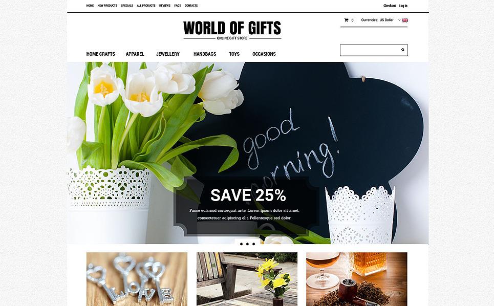 Szablon ZenCart Sklep z prezentami #52124 New Screenshots BIG
