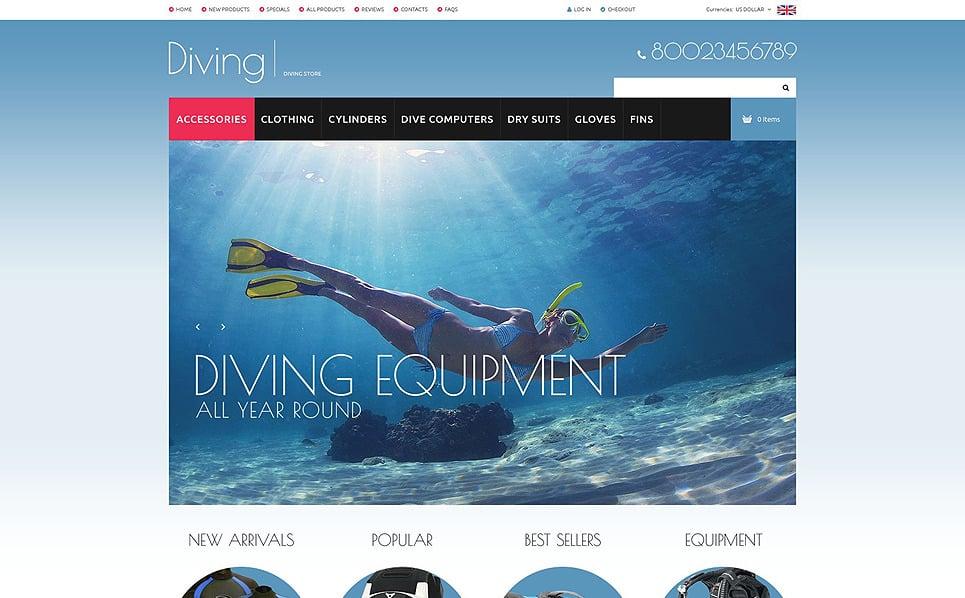 Szablon ZenCart #52126 na temat: nurkowanie New Screenshots BIG