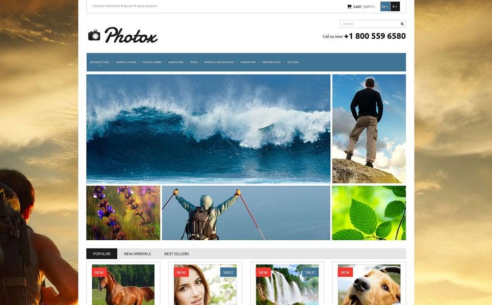 """PrestaShop шаблон """"Фото и видео"""" New Screenshots BIG"""