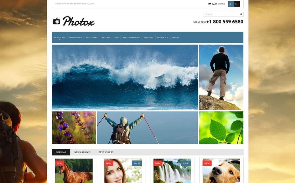 Responsive PrestaShop Thema over Stockfoto's New Screenshots BIG