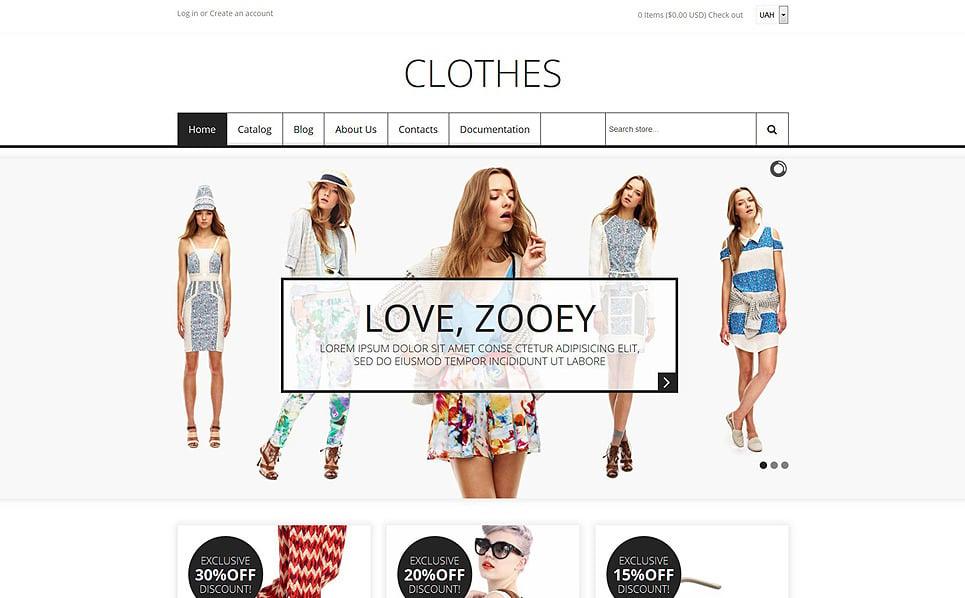Reszponzív Divatbolt  Shopify sablon New Screenshots BIG