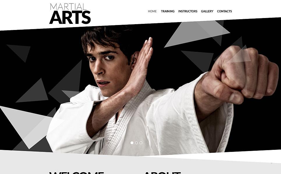 Адаптивний Шаблон сайтів на тему бойові мистецтва New Screenshots BIG