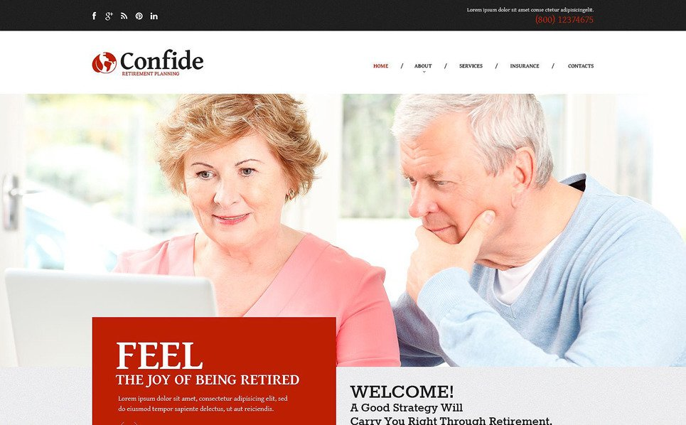 Responsive Emeklilik Planlama  Web Sitesi Şablonu New Screenshots BIG
