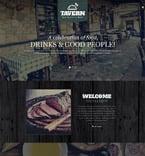 Cafe & Restaurant Website  Template 52136