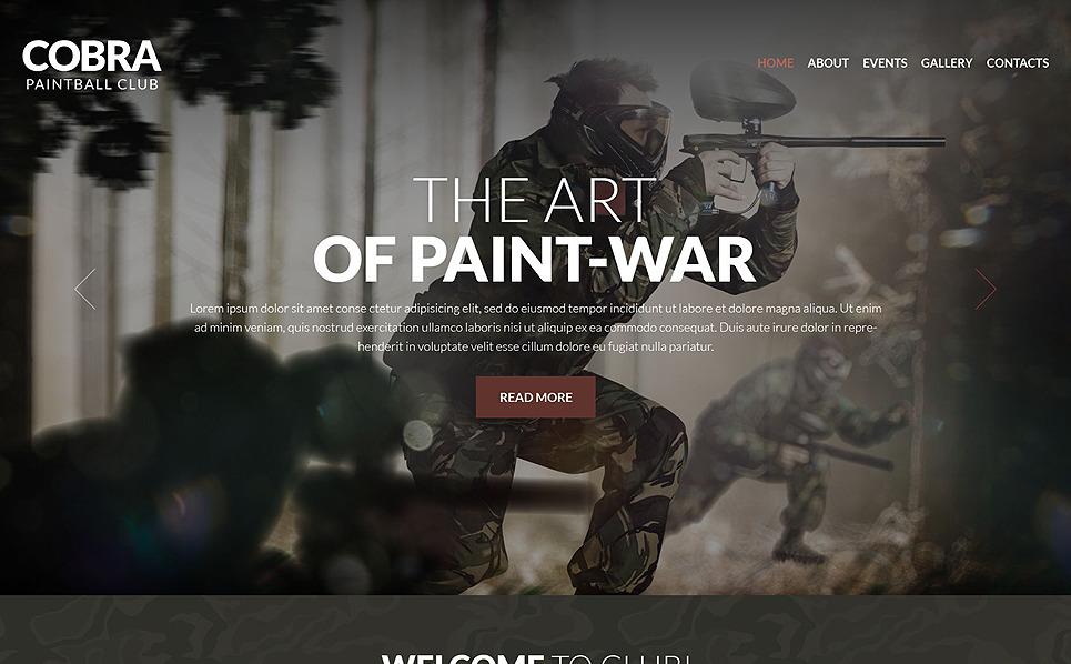 Responsive Paintball  Web Sitesi Şablonu New Screenshots BIG