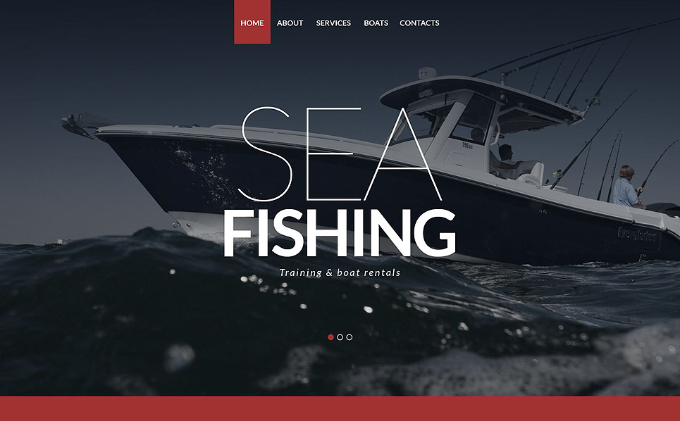 Tema Siti Web Responsive #52143 per Un Sito di Pesca New Screenshots BIG