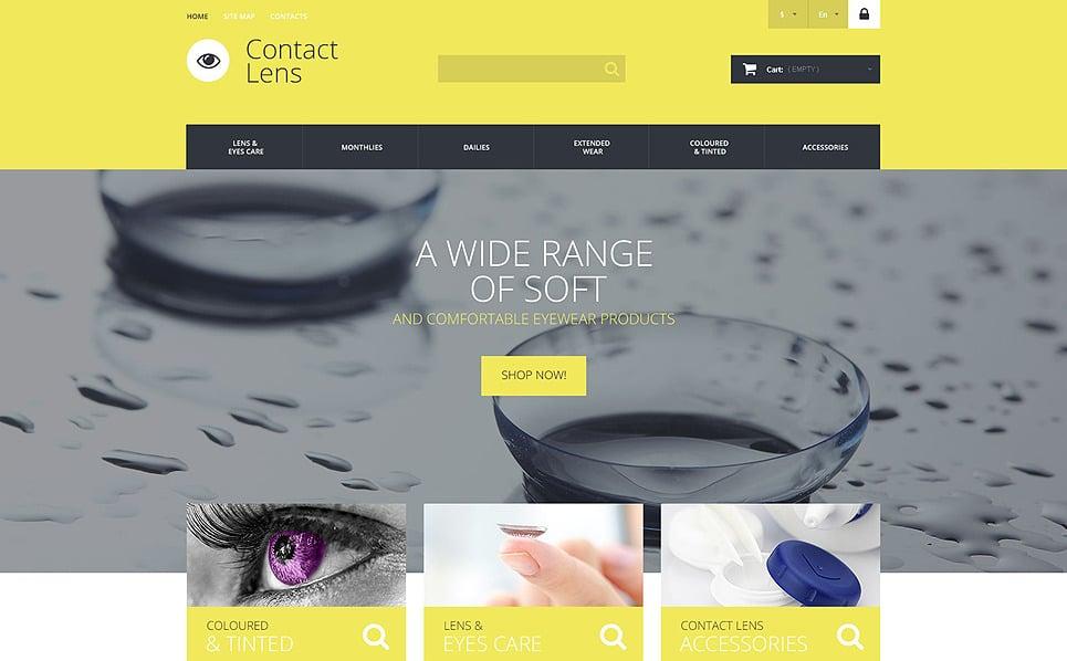 Responsive Optometrist's Templates Prestashop Teması New Screenshots BIG
