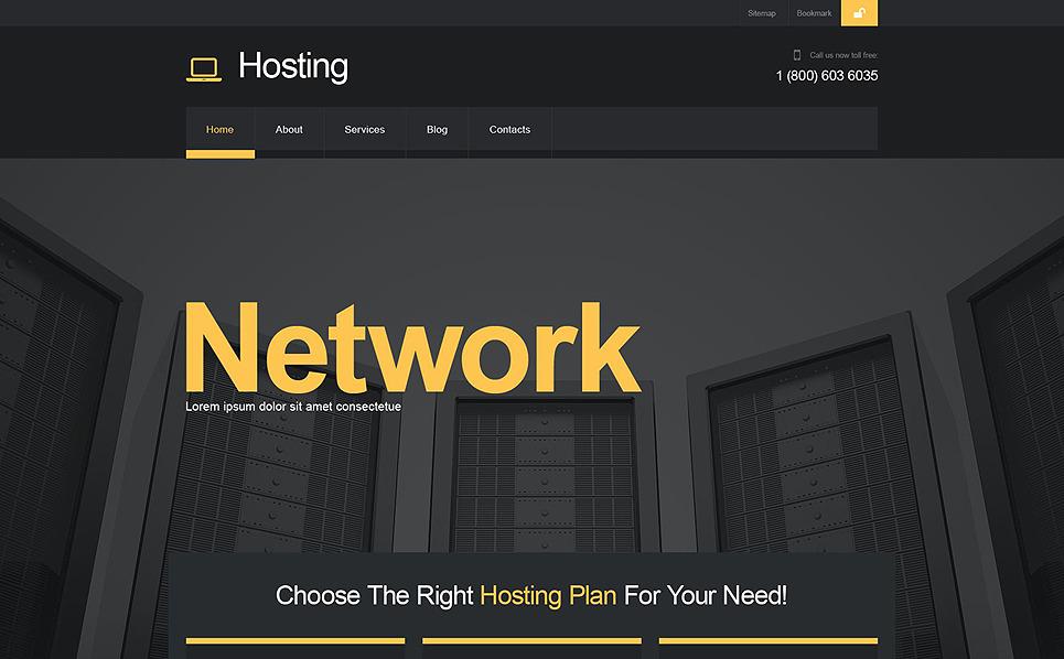Szablon Muse #52164 na temat: hosting New Screenshots BIG