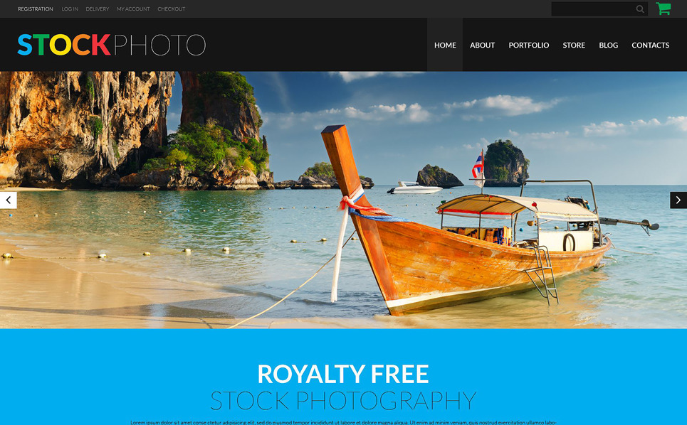 Responsive WooCommercie Thema over Stockfoto's New Screenshots BIG