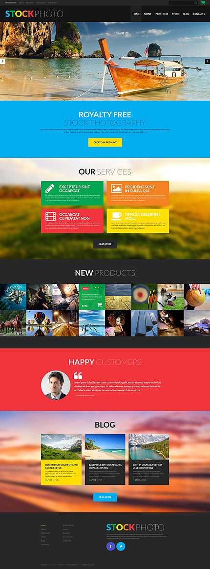 ADOBE Photoshop Template 52166 Home Page Screenshot