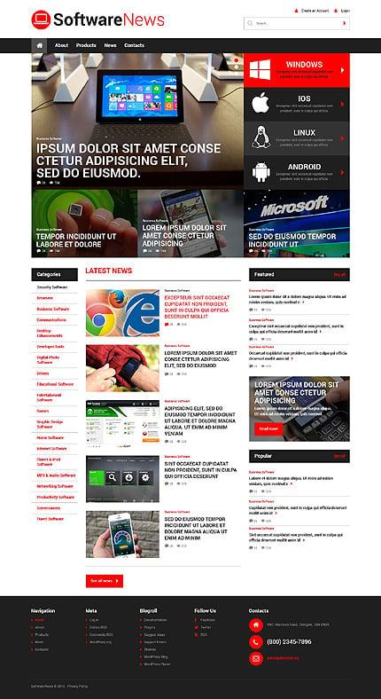 WordPress Theme/Template 52168 Main Page Screenshot