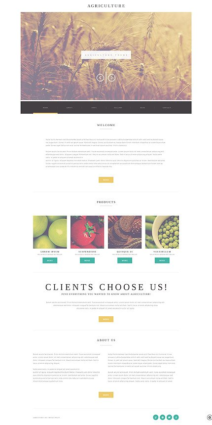 WordPress Theme/Template 52173 Main Page Screenshot