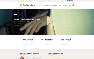 Orphanage Donations Joomla Template