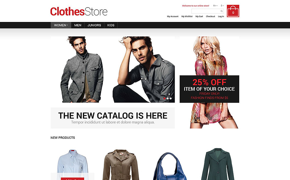 Tema Magento Flexível para Sites de Roupa №52187 New Screenshots BIG