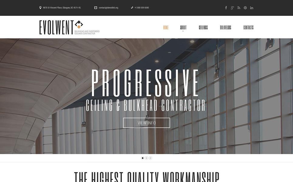 Responzivní Šablona webových stránek na téma Stavební společnosti New Screenshots BIG