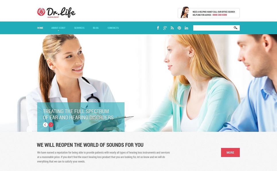 Tema Siti Web Responsive #52191 per Un Sito di Settore Medico New Screenshots BIG