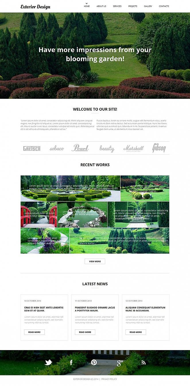 Exterior Designer's Portfolio Template - image