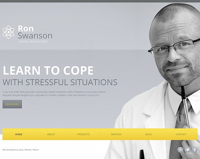 Psychologist's Personal Webpage Template - image