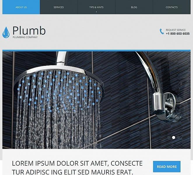 Luxusní Moto CMS HTML šablona na téma Instalatérské práce New Screenshots BIG