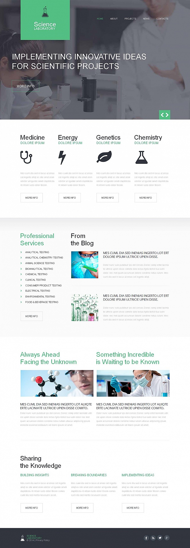 Medical Lab Website Template with CMS - image