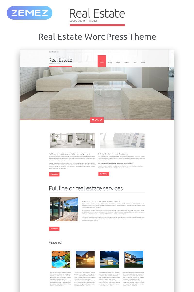 Адаптивний WordPress шаблон на тему агентство нерухомості №52174 - скріншот