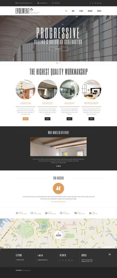 Адаптивный HTML шаблон №52190 на тему строительные компании
