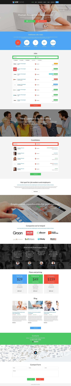 Адаптивный шаблон сайта на тему трудоустройство #52112