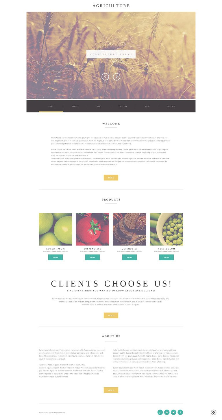 Agriculture Business WordPress Theme New Screenshots BIG
