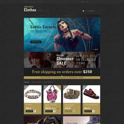 Alternative Clothing Store Tema PrestaShop  №52150 #52150
