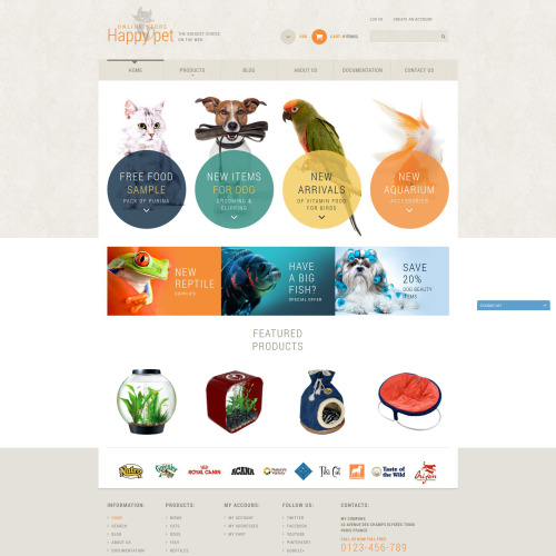 Happy Pet - Shopify Template based on Bootstrap