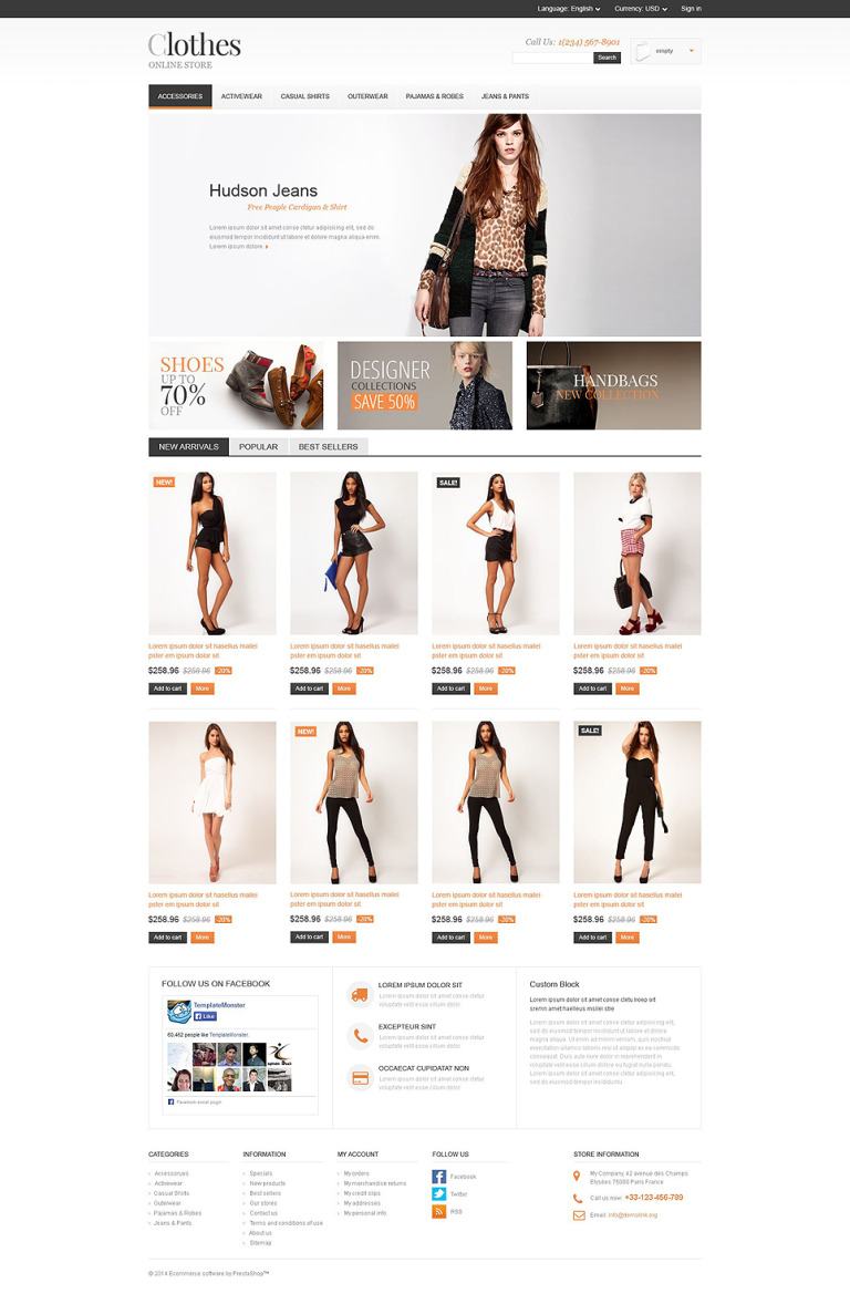 Apparel Store PrestaShop Theme New Screenshots BIG
