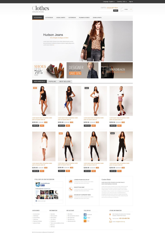 Apparel Store PrestaShop Theme - screenshot