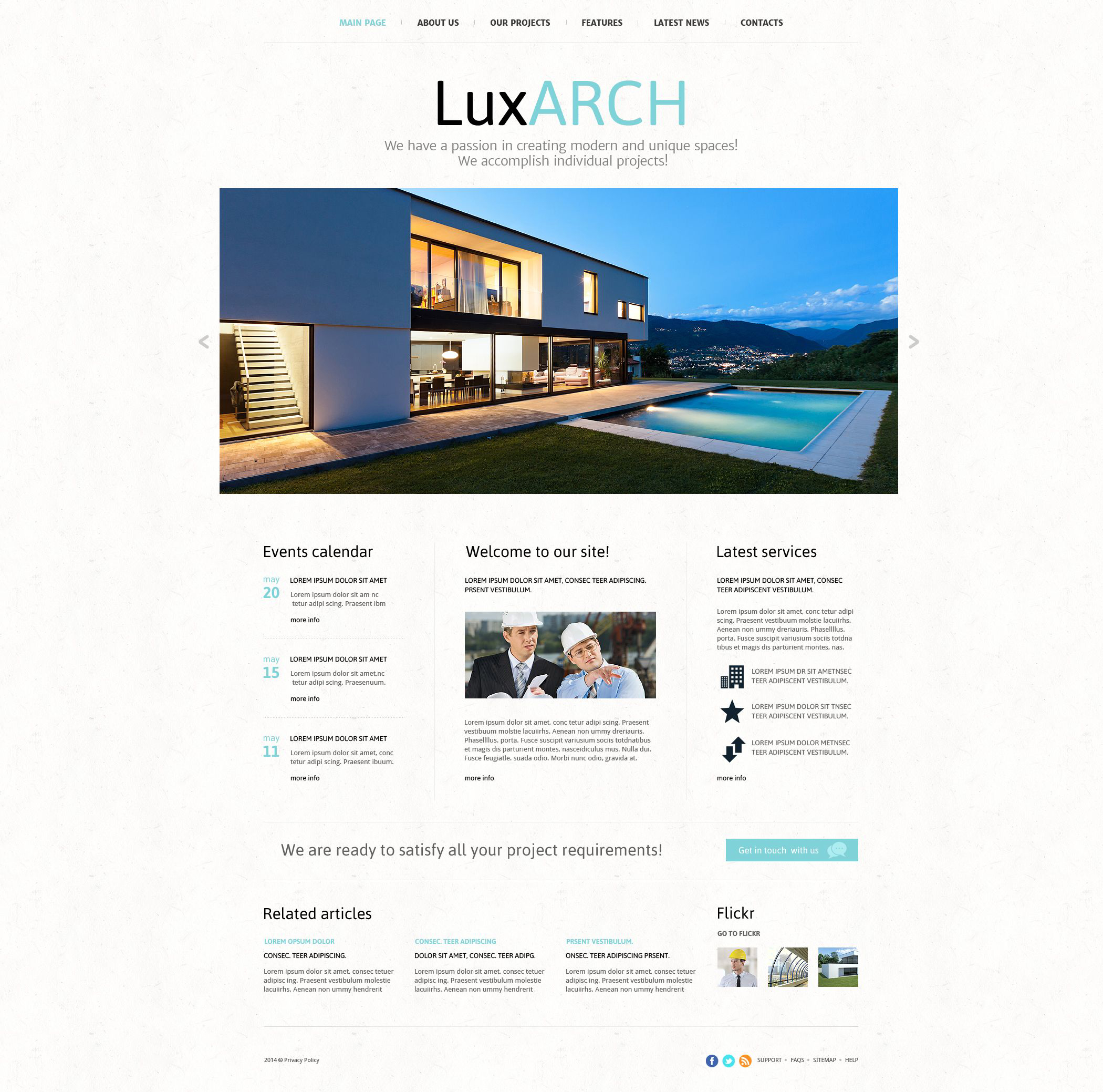 Architecture Joomla Template - screenshot