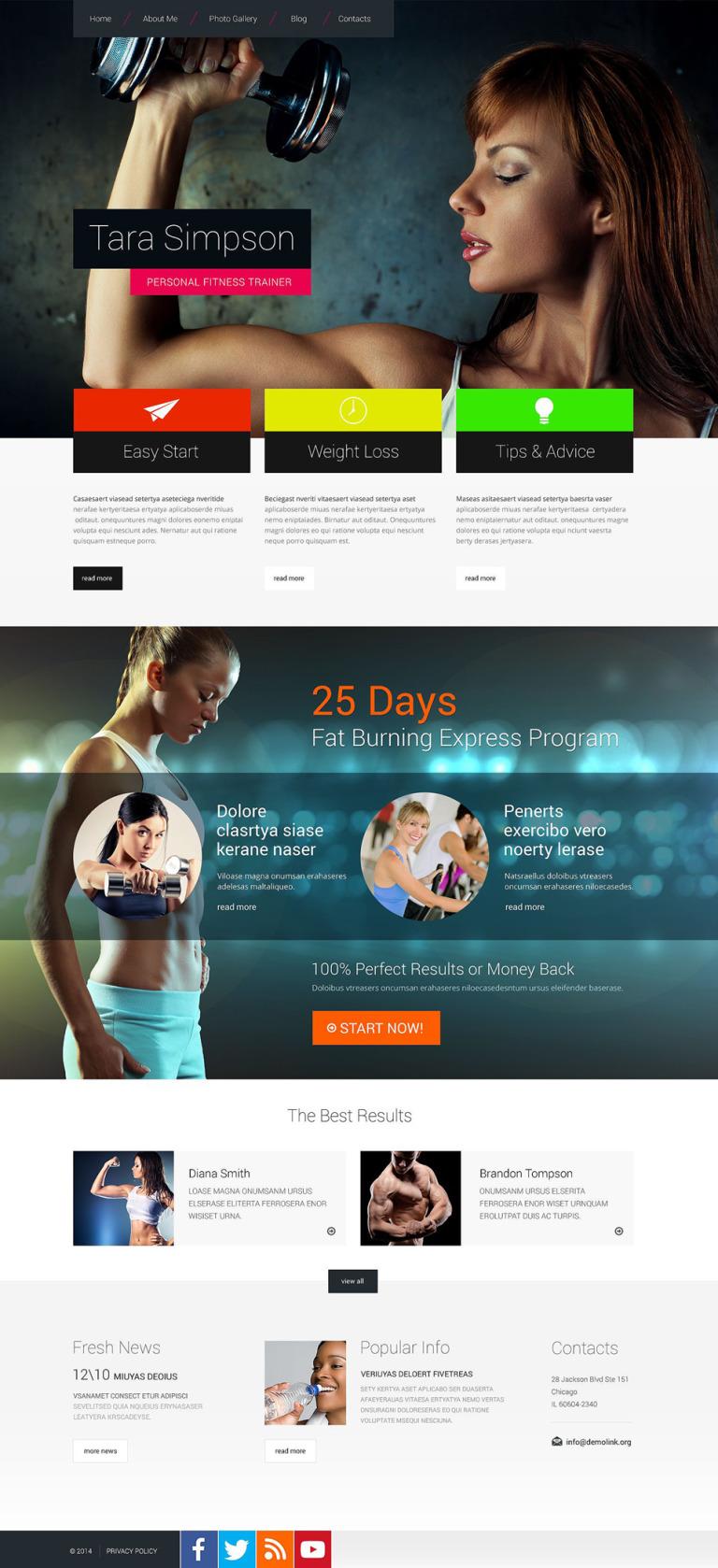 Bodybuilding Responsive Website Template New Screenshots BIG