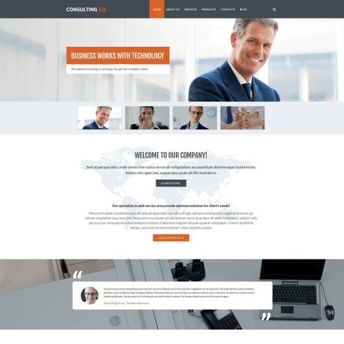 Consulting Co - Responsive Drupal Template