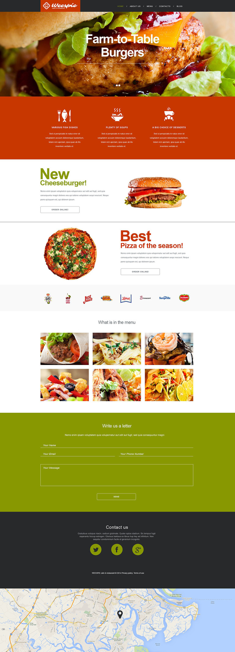 Cafe and Restaurant Muse Template New Screenshots BIG