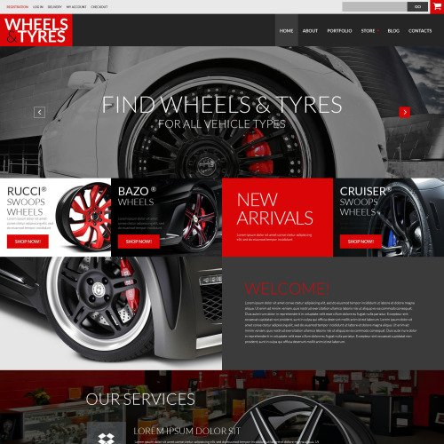 Wheels & Tyres - WooCommerce Template based on Bootstrap