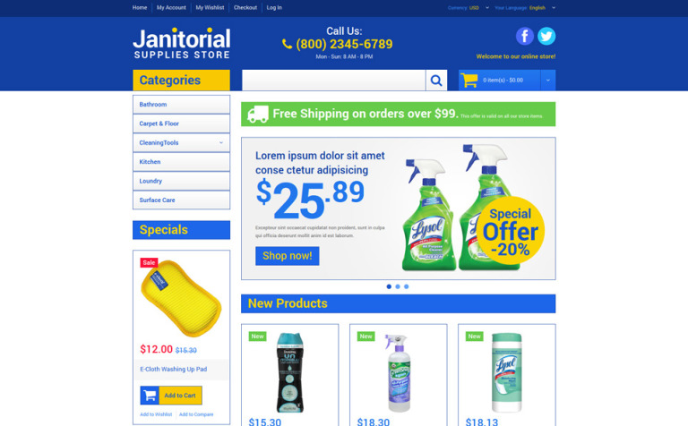 Cleaning Supplies Store Magento Theme